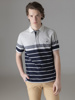 Picture of Men's polo shirt grey melange with stripes