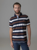 Picture of Men's polo pique striped shirt in combed cotton