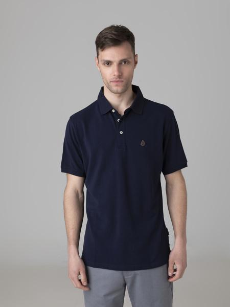 Picture of Men's polo pique  single colour shirt three button placket