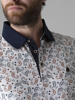 Picture of Men's polo pique shirt with all over paisley print