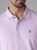 Picture of Men's polo pique single colour shirt, three button placket
