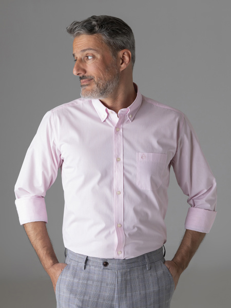 Picture of Men's Striped Shirt, Button Down Collar