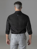 Picture of Linen shirt with semi cutaway collar