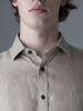 Picture of Men's linen shirt beige semi cutaway
