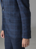 Picture of Check cotton linen blazer jacket two buttons