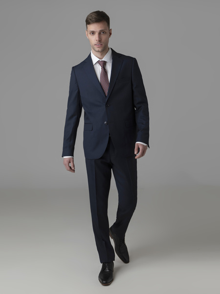Picture of Men's wool mix suit with single breasted blazer jacket