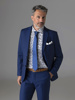 Picture of Wool mix suit with single breasted blazer jacket