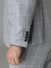 Picture of Wool mix check suit