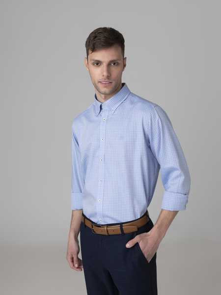 Picture of Cotton check shirt button down