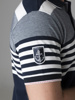Picture of Men's striped polo pique shirt.