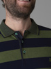 Picture of Mens striped polo pique shirt