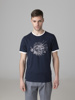 Picture of Cotton combed T-shirt  front lionfish embroidery