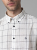 Picture of Cotton check linen shirt button down collar
