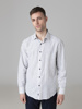 Picture of Cotton Linen shirt with semi cutaway collar
