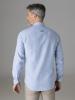 Picture of Cotton stripped linen shirt mandarin collar