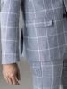 Picture of Ανδρικό Σακάκι Λινό Ανοιχτό Γκρί Καρό