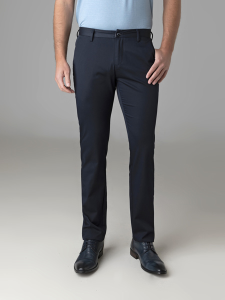 Picture of Chinos cotton pant navy blue
