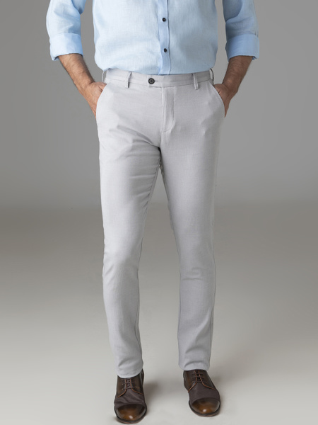 Picture of Chinos cotton pants grey