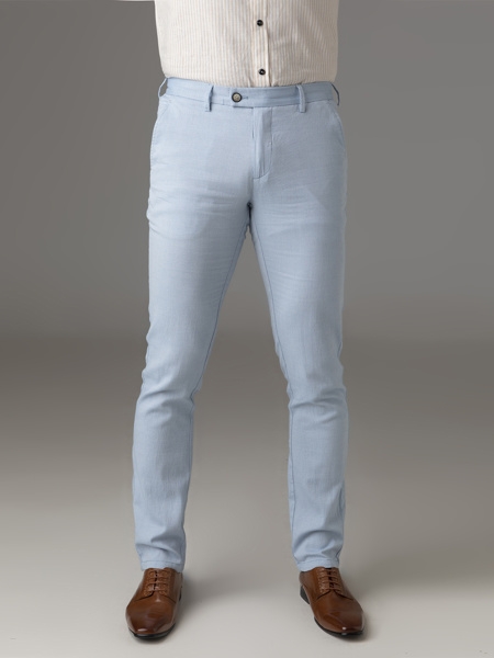 Picture of Chinos cotton pants ciel