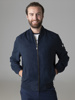 Picture of Blue Faux suede bomber jacket