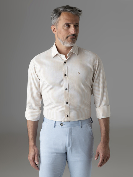 Picture of Stripped cotton linen shirt