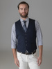 Picture of Blue Vest with back fastening