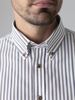 Picture of Men's cotton stripped shirt, button down custom.SMART EASY CARE
