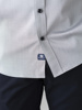 Picture of Men's cotton grey shirt semi cutaway slim SMART IRON FREE