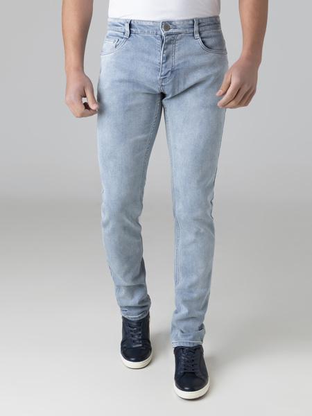 Picture of Men's five pocket denim pants, in faded blue