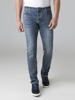 Picture of Men's elastic jeans pants with faded wash