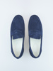 Picture of Men's suede loafers shoes white sole