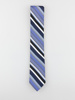Picture of MEN'S SILK STRIPPED TIE IN BLUE HUES