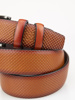 Picture of Men's leather belt with metal buckle
