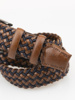 Picture of Men's knitted belt with leather and metal buckle