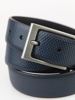 Picture of Men's embossed leather belt with metal buckle