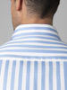 Picture of  Men's cotton stripped shirt semi cutaway slim SMART IRON FREE