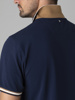 Picture of Men's polo pique shirt with zip placket and pipings