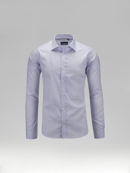 Picture of Cotton shirt semi-cutaway collar
