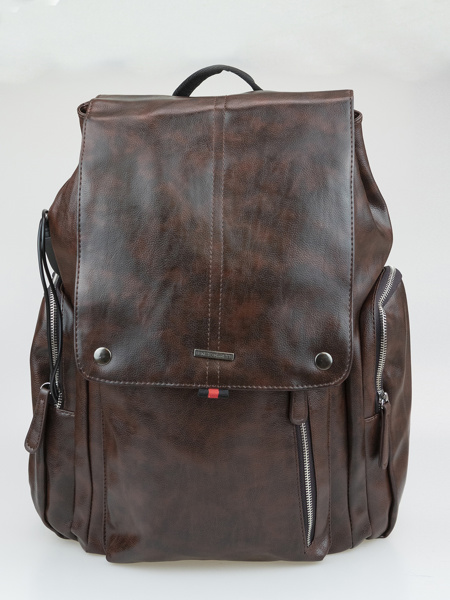 Picture of Unisex brown backpack with shoe pocket