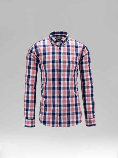 Picture of Cotton check shirt button down collar