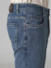 Picture of Men's elastic five pocket jeans pants, in faded blue