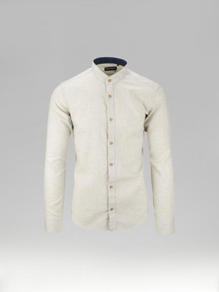 Picture of Cotton Linen mix shirt mandarin collar
