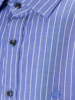 Picture of Stripped cotton shirt semi cutaway collar,
