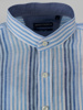 Picture of Stripped linen shirt mandarin collar
