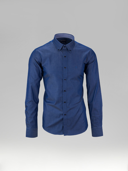 Picture of Cotton denim shirt button down