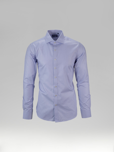 Picture of Small check cotton blend shirt