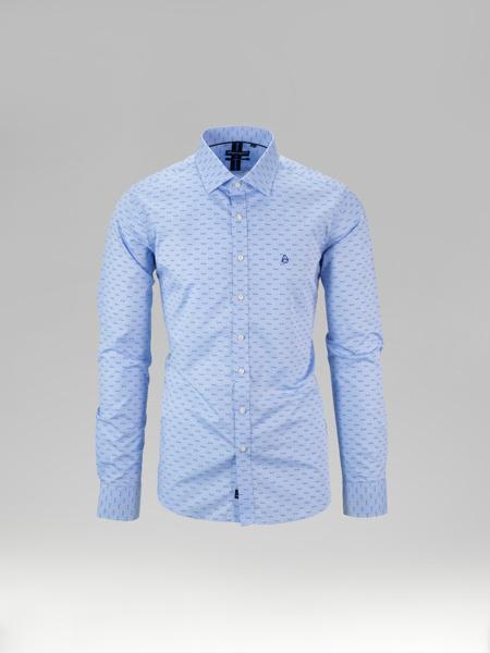 Picture of Cotton shirt semi cutaway collar seagulls print