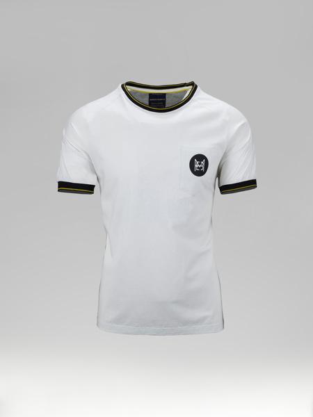 Picture of Ανδρικό T-shirt Λευκό Με Μαύρες Λεπτομέρειες