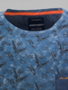 Picture of Cotton T-shirt with jeans pocket and tropical print