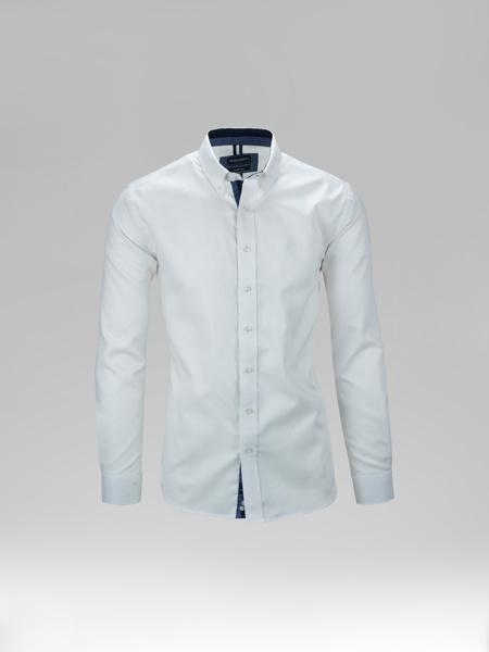 Picture of Pique cotton linen shirt button down